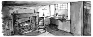 Illustration of Dove Cottage from The Grasmere Journal by Georgie Bennett