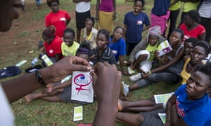 A family planning and sex education class in Busia, Uganda