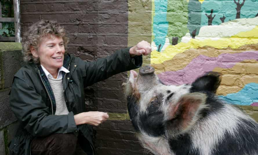 Kate Hoey and a pig