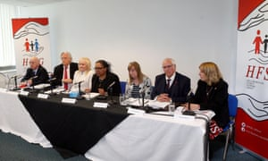 From left: Patrick Roche, Michael Mansfield, Jenni Hicks, Marcia Willis Stewart, Margaret Aspinall, Trevor Hicks and Sue Roberts.
