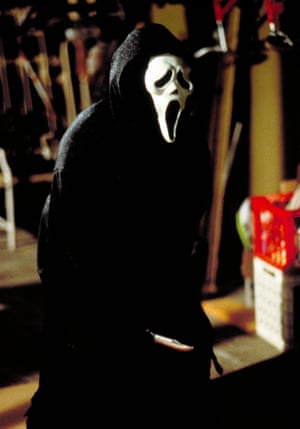 The white mask worn by the assailant in the movies, which was a nod to Edvard Munch's painting The Scream.