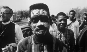 Protesters on one of 1965's Selma to Montgomery voting rights marches