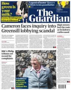 صفحه نخست Guardian 13 آوریل 2021