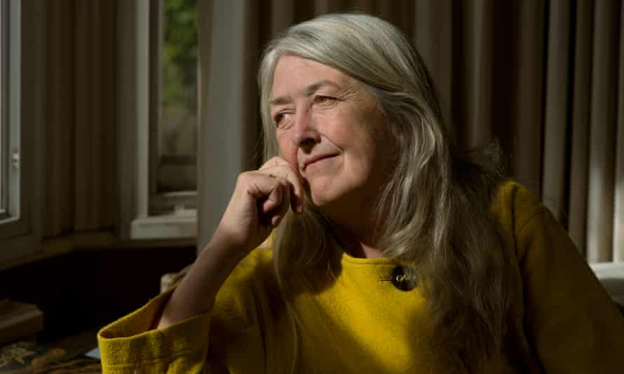 mary beard looking pensive in her house in cambridge