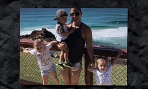 Hannah Clarke with her children Aaliyah, Trey and Laianah. The four of them were murdered by the children's father, Rowan Baxter, in February 2020