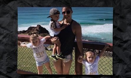Hannah Clarke with her children Aaliyah, Trey and Laianah.