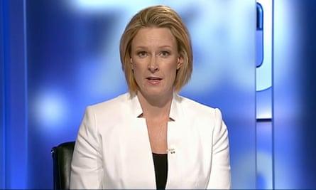Leigh Sales on the ABC's 7.30 program.