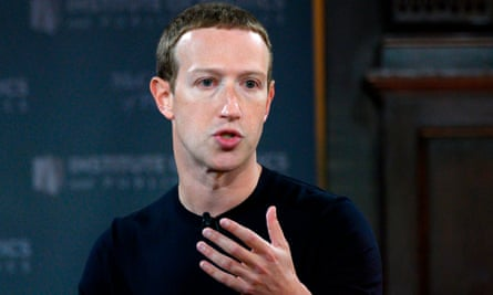 """US-internet-FACEBOOK-ZUCKERBERG<br>Facebook founder Mark Zuckerberg speaks at Georgetown University in a 'Conversation on Free Expression"""" in Washington, DC on October 17, 2019. (Photo by ANDREW CABALLERO-REYNOLDS / AFP) (Photo by ANDREW CABALLERO-REYNOLDS/AFP via Getty Images)"""