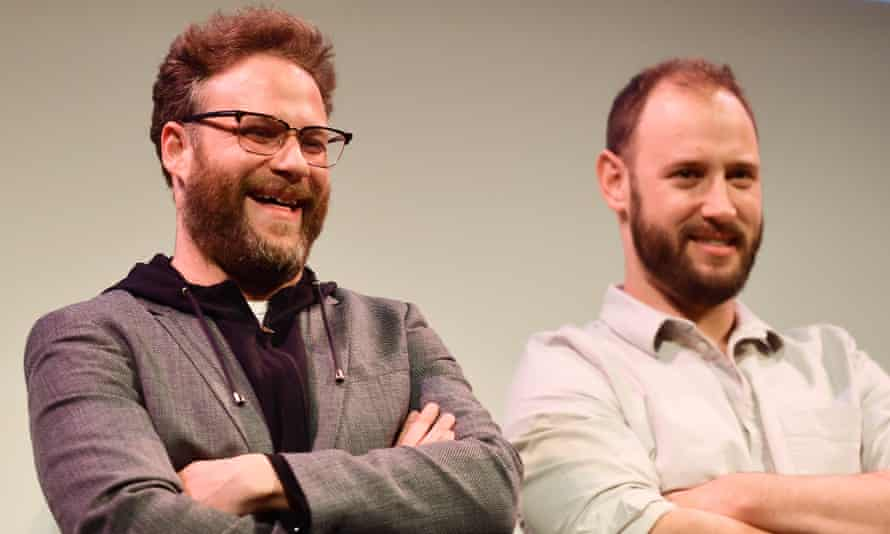 Seth Rogen and Evan Goldberg at the Good Boys premiere at SXSW 2019 in Austin, Texas.