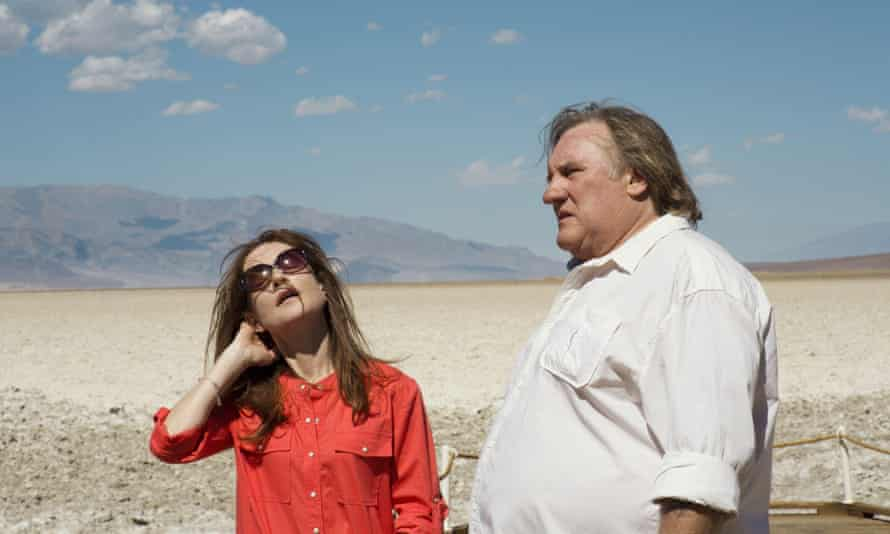 Film still from Valley of Love, starring Isabelle Huppert and Gerard Depardieu.