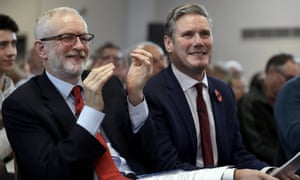 Jeremy Corbyn and Keir Starmer (right).