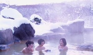 Open air bath, Niseko, Hokkaido, Japan