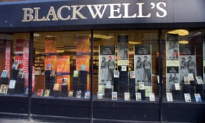 Blackwell's bookshop on Charing Cross Road in London.