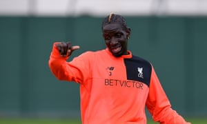 Liverpool's Mamadou Sakho during a club training session in August 2016