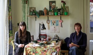 Rhiannon Lucy Cosslett and Michele Hanson in Hanson's home