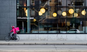 Oslo, Norway: food delivery by bike