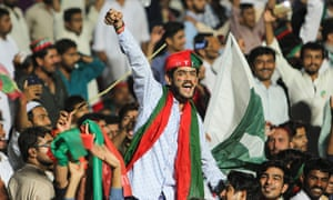 Supporters of Imran Khan at a rally in Multan