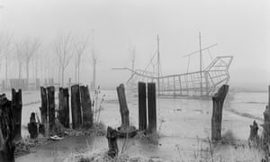 A burned-out children's playground at Childwall Valley, Liverpool, photographed by Peter Marlow (1985).