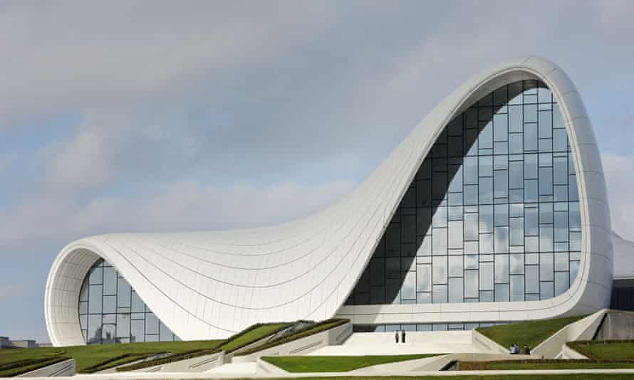 Heydar Aliyev cultural centre in Baku, Azerbaijan.