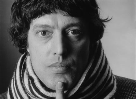 Tom Stoppard, photographed in 1976: a shy man who has found a way to show off.