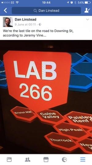 Bristol North West voter Dan Linstead's election screengrab