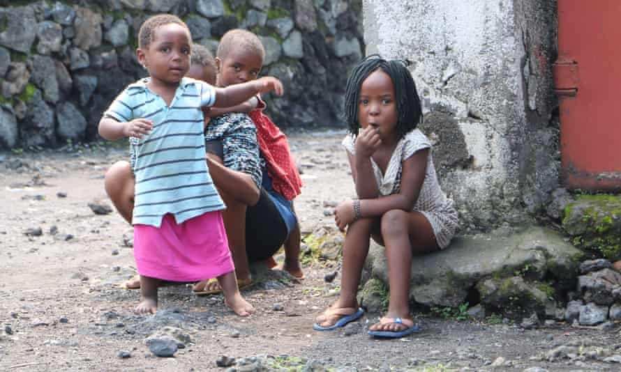 Children in Kivu, Congo, where one child protection group says 215 children were abducted and 34 killed in the province in 2017.