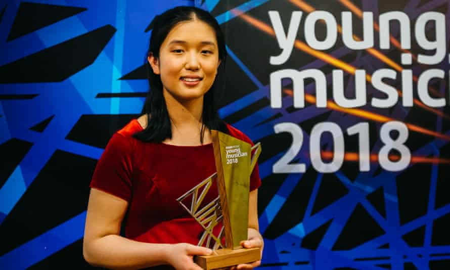 Lauren Zhang, 16, with the BBC Young Musician 2018 trophy