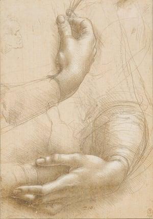 A study of a woman's hands, c1490 by Leonardo da Vinci.