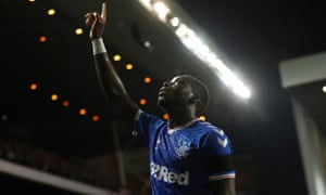 Sheyi Ojo pays tribute to Fernando Ricksen after scoring the only goal for Rangers against Feyenoord.