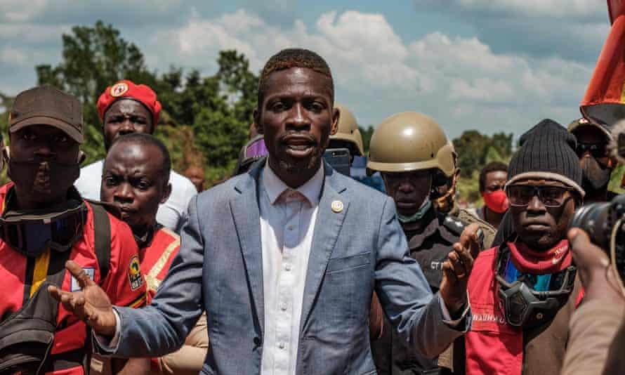 Bobi Wine campaigning in December.