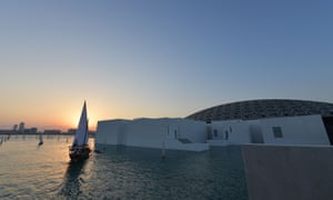 The Louvre Abu Dhabi sits on Saadiyat island.