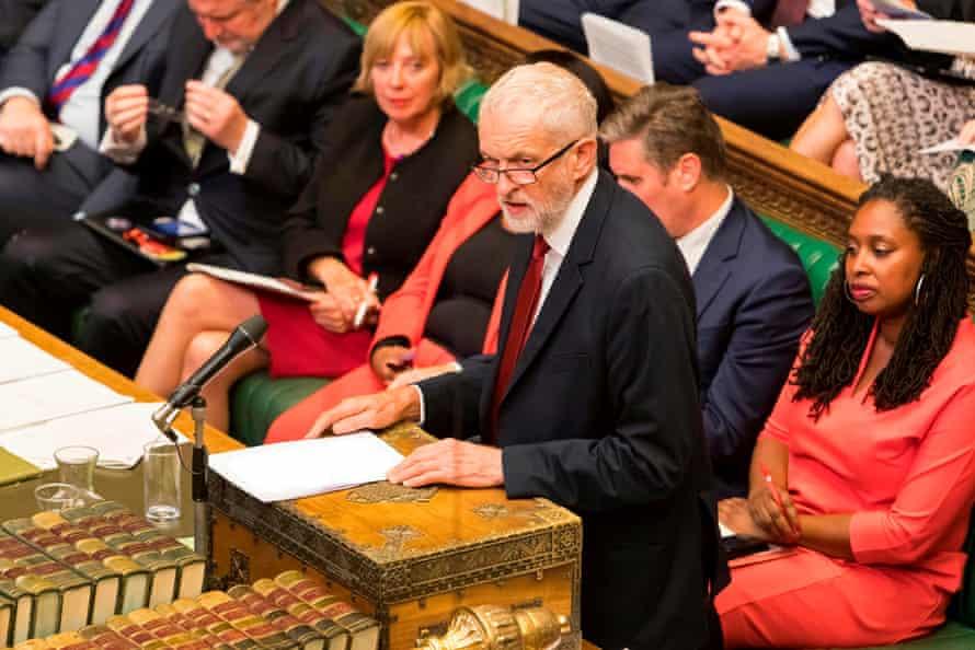 Jeremy Corbyn speaks in the House of Commons on 3 September