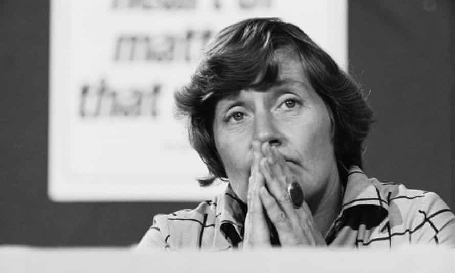 Shirley Williams at the Labour party conference in 1976.