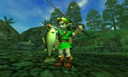 Fishing for fun in Legend of Zelda: Ocarina of Time