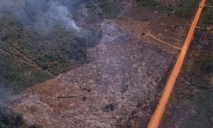Deforestation along the BR-364.