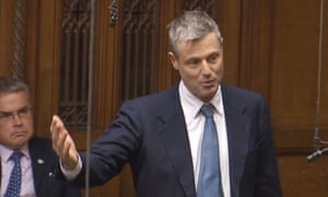 Zac Goldsmith speaks after a statement in the House of Commons from transport secretary Chris Grayling on airport expansion