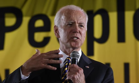 Joe Biden speaks at the Poor People's Moral Action Congress presidential forum in Washington on Monday.