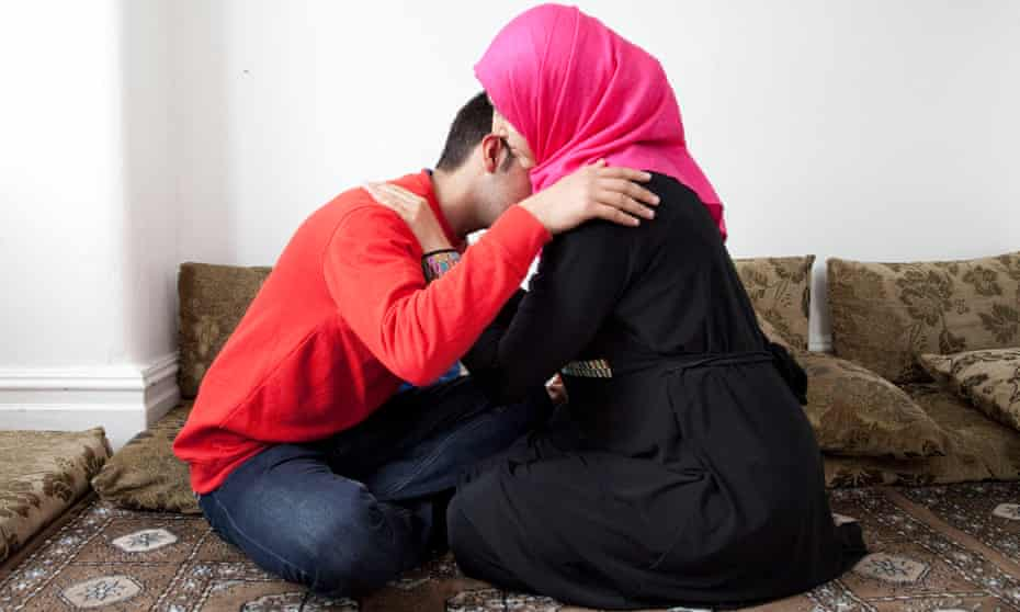 Adnan and his sister, Amira, who fled the war in Syria.