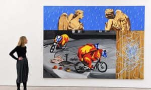 David Salle's Angels in the Rain (1998) at the Saatchi gallery.
