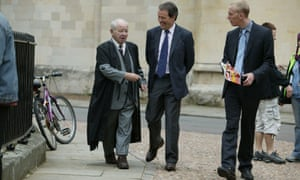 Colin Dexter with Kevin Whately and Laurence Fox on the set of Lewis.