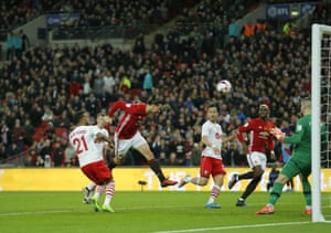 Ibrahimovic scores his second and Manchester United's third goal.
