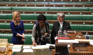 Kemi Badenoch, and her baby, as she was sworn in as an MP on Tuesday.