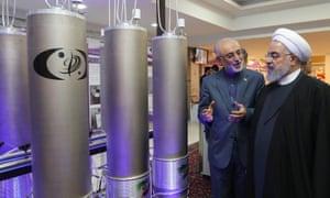 Hassan Rouhani, right, with Ali Akbar Salehi