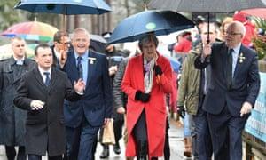 Theresa May at the Royal Welsh Winter Fair