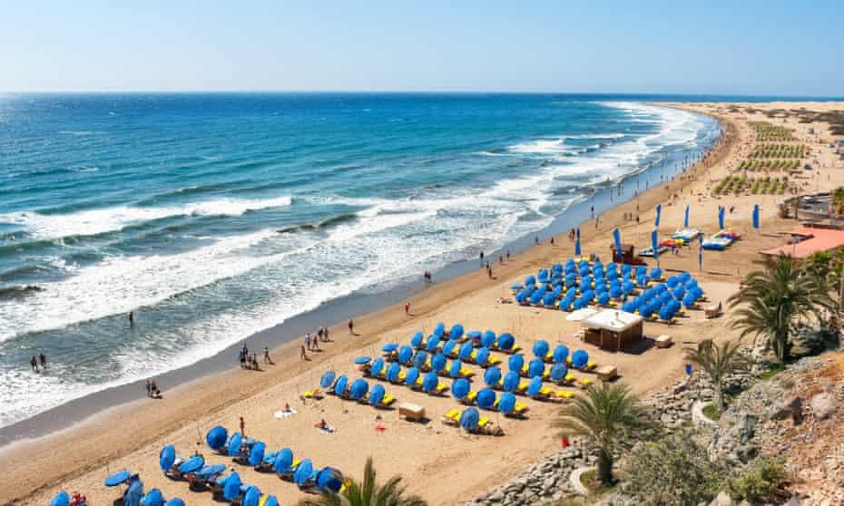 Maspalomas beach, Gran Canaria.