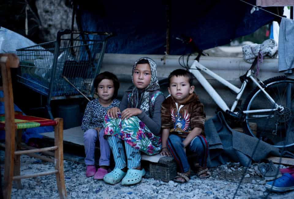 Raihan Mohammadi, five, Farzan Mohammadi, 11, and Ilyas Rezwani, five