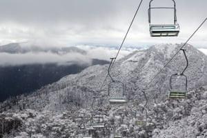 Snow covers Mt Buller, eastern Victoria, Australia