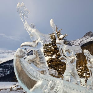 Ice Sculpture at the 2015 Lake Louise Ice Magic Festival.