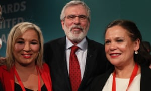 Michelle O'Neill, Gerry Adams, Mary Lou McDonald