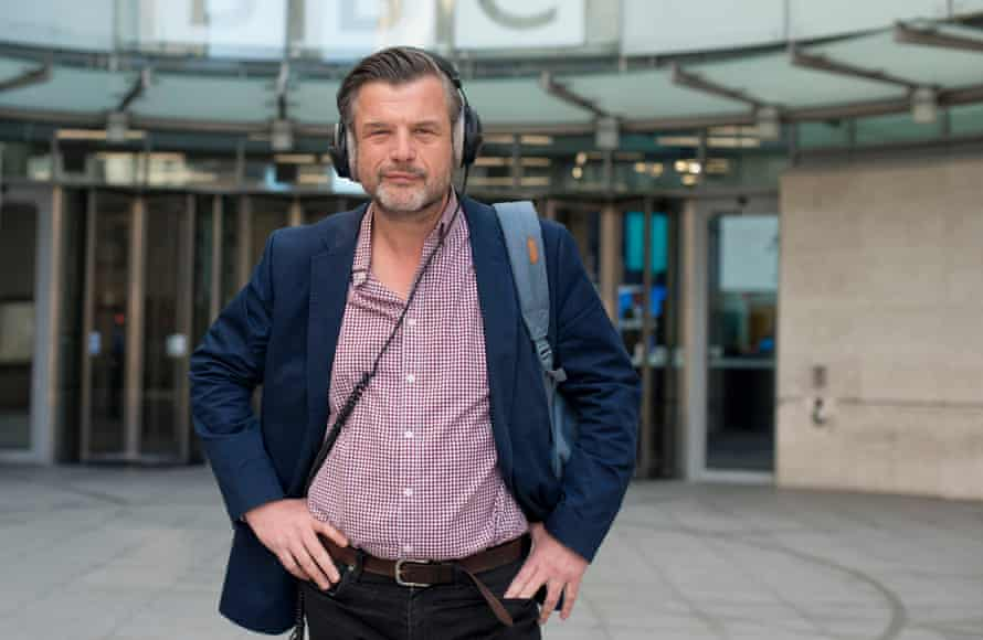 Radio presenter Petroc Trelawny at BBC Broadcasting House, Portland Place, London, for New Review, 18/05/2020